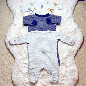 OLD NAVY FOLD-OVER ONE PIECE FOOTIE 0-3 MONTHS